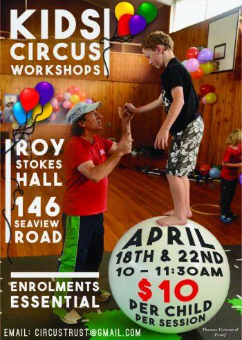 Kids Circus Workshop 2019 poster